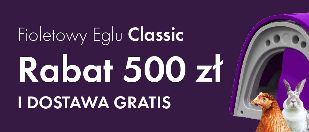 Purple Eglu Classic 100 off plus free delivery